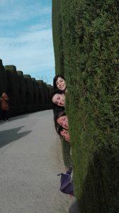 Llegamos a los jardines de la Alhambra... Coucou! ¿Dónde estamos? ;)