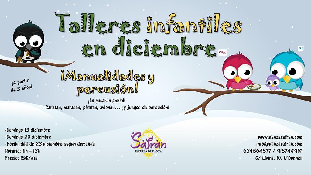 Talleres infantiles en diciembre en Madrid