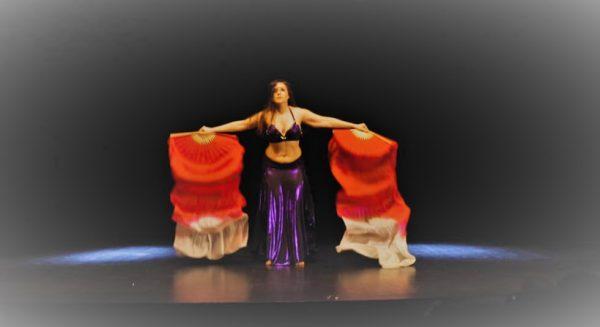 abanicos de seda danza del vientre madrid baile