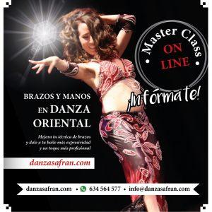 Danza del vientre brazos manos masterclass on line