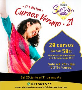 SafranPro 2021 danza online danza oriental bollywood suelo pélvico stretching orient fitness