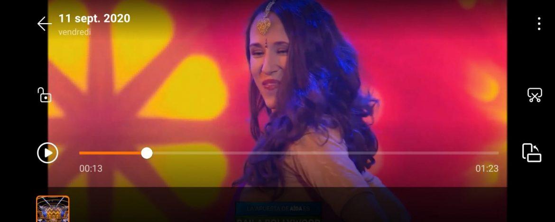 Danza Safrán en televisión: Hawa baila Bollywood